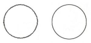 Prikaz kroga v bitni obliki (potrebovali smo 5.184 točk) in v vektorski obliki.