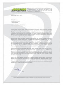 Slika 10: Dopis podjetja