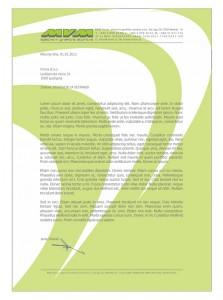Slika 11: Barvni dopis podjetja