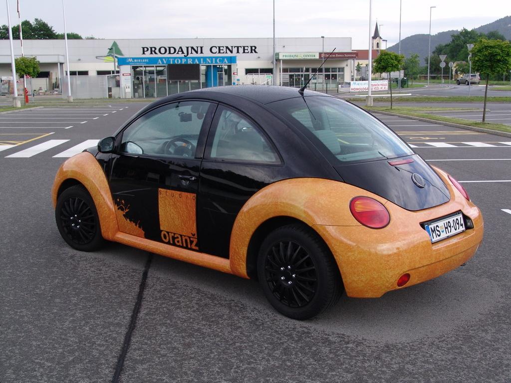 Carwrapping - VW Hrošč zadaj