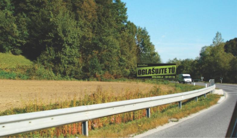 Oglaševanje na jumbo plakatih smer Logarska Celje - kraj Nazarje