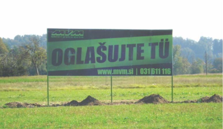 Oglaševanje na jumbo plakatih Preserje v obe smeri