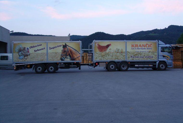 Foliranje tovornega vozila